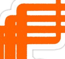 sci-fi hair (orange variant) Sticker