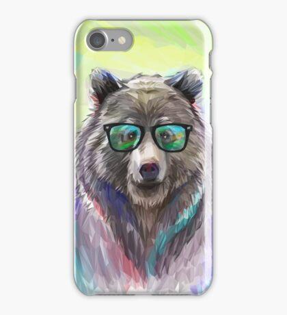 Hipster Bear Portrait iPhone Case/Skin