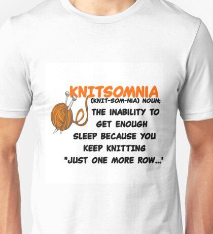 KNITTING - KNITSOMNIA Unisex T-Shirt