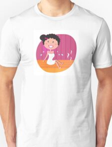 Health and spa: Happy smiling woman relaxing in infrared sauna Unisex T-Shirt