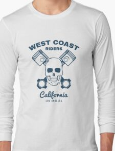 Skull and Pistons. t-shirt graphic. Illustration Long Sleeve T-Shirt