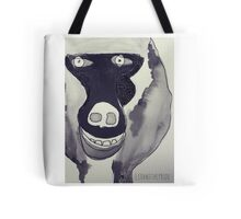 Baboon black and white Tote Bag