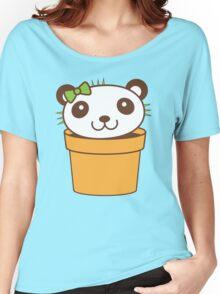 cute as a cactus panda Women's Relaxed Fit T-Shirt