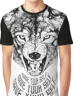 Save Your Self - Wolf Graphic T-Shirt