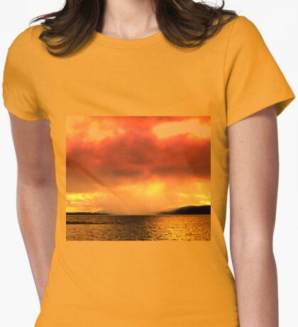 Tasmanians rain Womens Fitted T-Shirt