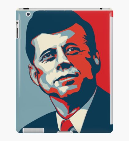 JFK Shepard Hope Style Poster (Red Blue) iPad Case/Skin