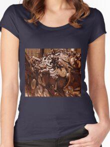 Rusty sculpture Women's Fitted Scoop T-Shirt