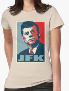 JFK Shepard Hope Style Poster (Red Blue) Womens Fitted T-Shirt