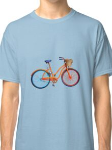Bicycle on blue ground Classic T-Shirt