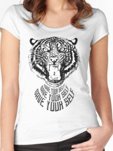 Save Your Self - Tiger Women's Fitted Scoop T-Shirt