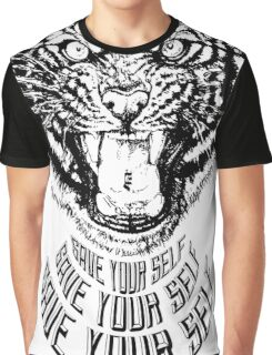 Save Your Self - Tiger Graphic T-Shirt