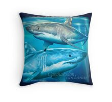 Neptune White Throw Pillow