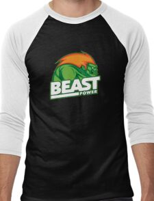 Beast Power Men's Baseball ¾ T-Shirt