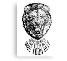 Save Your Self - Lion Metal Print