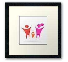 Family, Community and people icon Framed Print