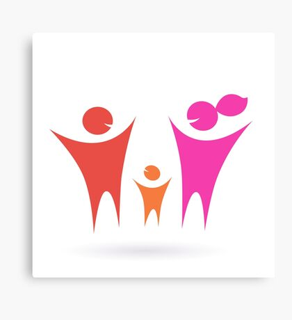 Family, Community and people icon Canvas Print