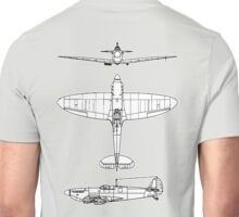 British, Supermarine, Spitfire, Supermarine, Spitfire,  Fighter, WWII, 1942, Fighter, WWII, 1942, on GREY Unisex T-Shirt