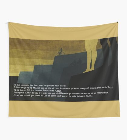 Le Cap TD tapestry/tenture + Texte Français © E.Tchijakoff Wall Tapestry