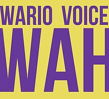 """""""Wah"""" - Wario 2014 Sticker and Poster? by MushroomBoy1022"""