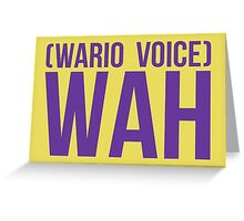 """Wah"" - Wario 2014 Sticker and Poster? Greeting Card"