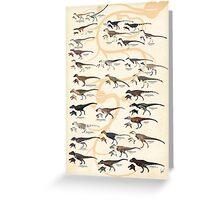 Tyrannosauroid Dinosaurs Greeting Card