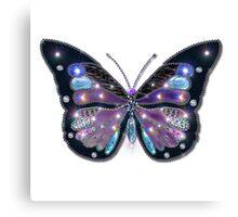 Colorful Black Blue Butterflies Canvas Print