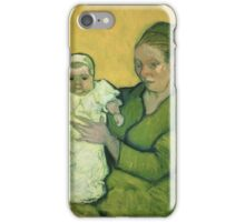 Vincent Van Gogh - Portrait Of Madame Augostine Roulin And Baby, 1888 iPhone Case/Skin