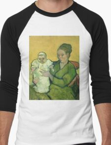 Vincent Van Gogh - Portrait Of Madame Augostine Roulin And Baby, 1888 Men's Baseball ¾ T-Shirt
