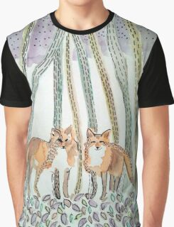 Ink Foxes Graphic T-Shirt