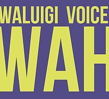 """WAH"" -Waluigi 2014 Stickers and Posters? by MushroomBoy1022"