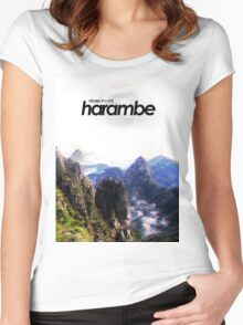 Harambe Mountains Movie Poster Women's Fitted Scoop T-Shirt