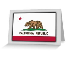 CALIFORNIA, Californian Flag, Flag of California, California Republic, America, The Bear Flag, State flags of America, American, USA, on BLACK Greeting Card