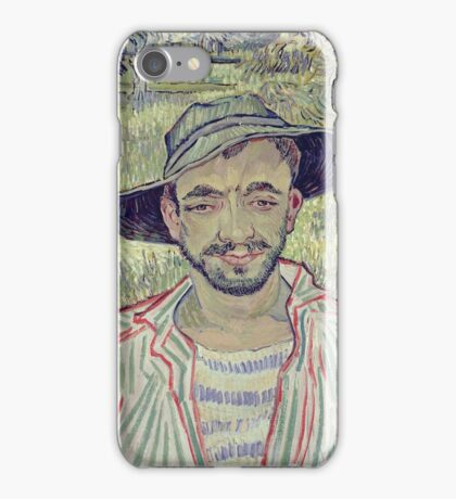 Vincent Van Gogh - Portrait Of A Young Peasant, 1889 iPhone Case/Skin