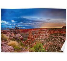 Colorado National Monument Evening Storms Poster