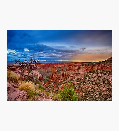 Colorado National Monument Evening Storms Photographic Print