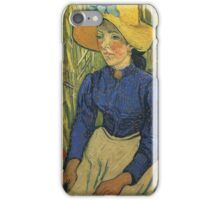 Vincent Van Gogh - Peasant Girl With Yellow Straw Hat, 1890 iPhone Case/Skin