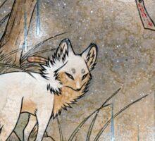 Fox & Wisps - Kitsune Yokai Foxfire  Sticker