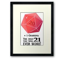 D20 - The Only Score Framed Print