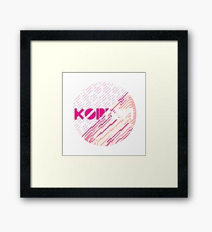 Koippon Peach Framed Print