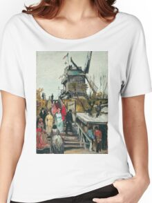 Vincent Van Gogh - Le Moulin De Blute-Fin, 1886 Women's Relaxed Fit T-Shirt