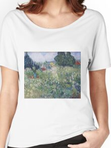 Vincent Van Gogh - Marguerite Gachet In  Garden, 1890 Women's Relaxed Fit T-Shirt