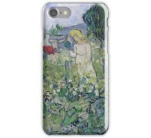 Vincent Van Gogh - Marguerite Gachet In  Garden, 1890 iPhone Case/Skin