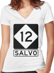 NC 12 - Salvo Women's Fitted V-Neck T-Shirt