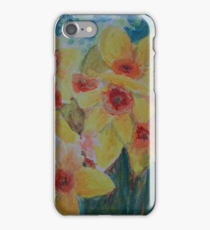 Daffodils herald the spring iPhone Case/Skin