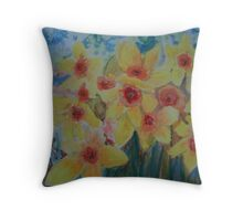 Daffodils herald the spring Throw Pillow