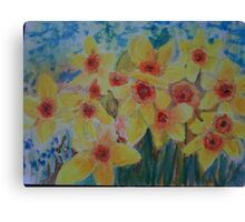 Daffodils herald the spring Canvas Print
