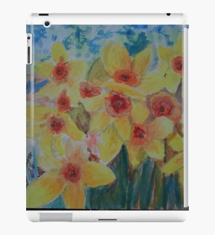 Daffodils herald the spring iPad Case/Skin