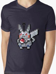 Robot Pikachu Mens V-Neck T-Shirt
