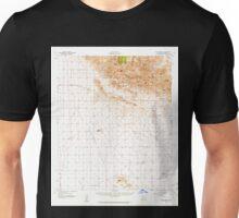USGS TOPO Map Arizona AZ Dos Cabezas 314546 1957 62500 Unisex T-Shirt