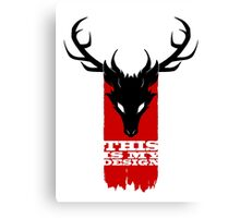 Feathers, Antlers, and Nightmares Canvas Print